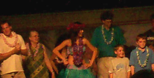 Alice and Dan Goodwin at a Luau in Orlando